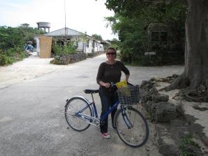 Biking around Taketomi island
